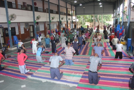 Yoga Day G K  Shetty Vivekananda Vidyalaya Junior College, Ambathur