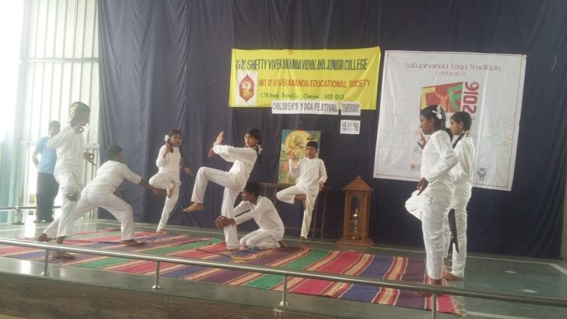 Yoga Festival G K  Shetty Vivekananda Vidyalaya Junior